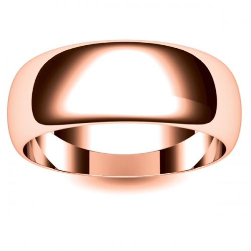 D Shape Medium -8mm (DSSM8-R) Rose Gold Wedding Ring